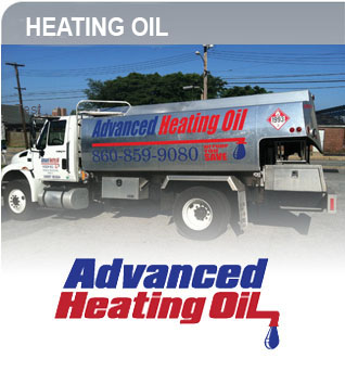 Advanced heating oil logo and truck